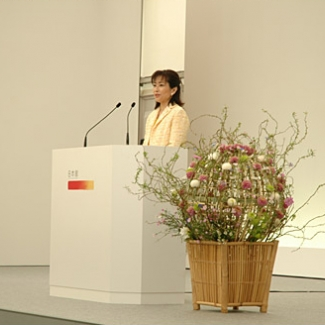 Speech as Chief Pavilion Director, Japan Pavilions.I was so nervous.