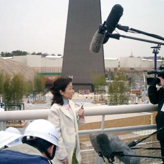 2月24日、長久手日本館を視察。