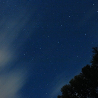 Night with twinkling stars