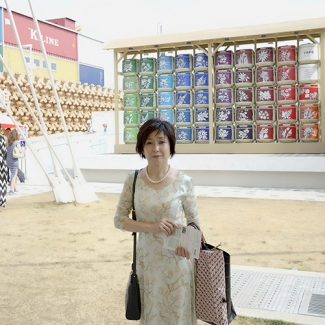 EXPO Milano In front of Japan Pavilion
