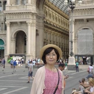 ミラノ ドゥーモ前の広場。後ろがガレリア