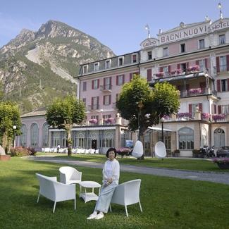 スイス国境の温泉の町ボルミオ。ホテル