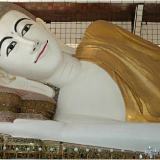 Shwethalyaung Buddha.