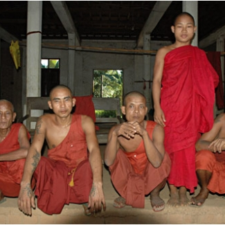 A small monastery in a Bago village. Myanmar is a country of monks.