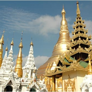 The most famous temple in Myanmar:ShweDagon Pagoda