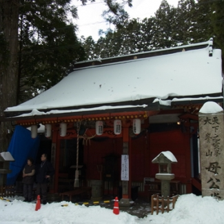 Mother temple dedicated to mother of En'nogyoja (En'nogyoja)  Mr. and Mrs. Aoki, the temple keepers