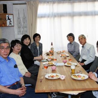 At the house of my classmate Miyoko 1