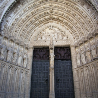 Back entrance of cathedral