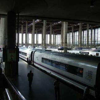 Madrid Central Station platform to Zaragoza