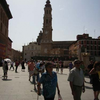 Old town area of Zaragoza