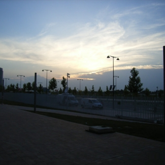 Expo Site at 11:00 at night