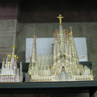 Pattern of Sagrada Familia Cathedral created before the time of Gaudi