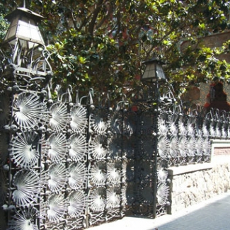 World Heritage 'Casa Vicens' A palm leaf patterned iron fence similar to Guell Park