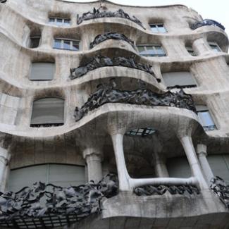 Gaudi construction in Barcelona (4)  The World Heritage 'Casa Mila' (La Pedrara), an outstanding work of Gaudi