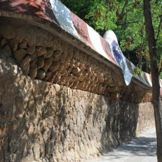 公園の外壁