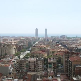 バルセロナ市街地を望む