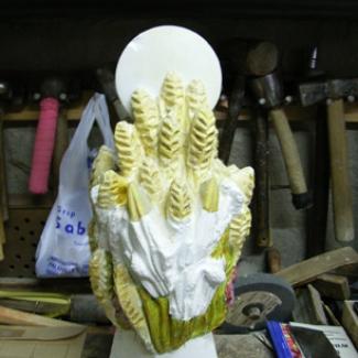 塔の頂点 「麦の穂」の模型