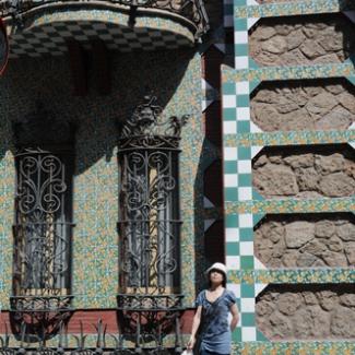 バルセロナ市内のガウディ建築①-(1)